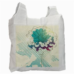 Flower Rose Purple Sunflower Lotus Recycle Bag (one Side) by Mariart