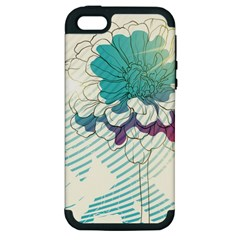 Flower Rose Purple Sunflower Lotus Apple Iphone 5 Hardshell Case (pc+silicone) by Mariart
