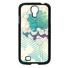 Flower Rose Purple Sunflower Lotus Samsung Galaxy S4 I9500/ I9505 Case (black) by Mariart