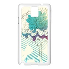 Flower Rose Purple Sunflower Lotus Samsung Galaxy Note 3 N9005 Case (white) by Mariart