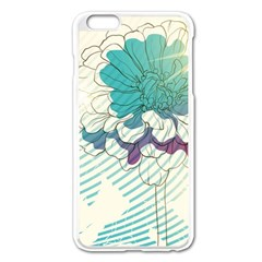 Flower Rose Purple Sunflower Lotus Apple Iphone 6 Plus/6s Plus Enamel White Case by Mariart