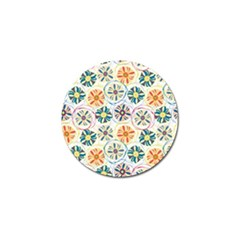 Flower Rainbow Fan Sunflower Circle Sexy Golf Ball Marker by Mariart
