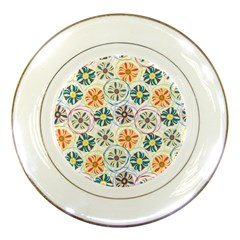 Flower Rainbow Fan Sunflower Circle Sexy Porcelain Plates by Mariart