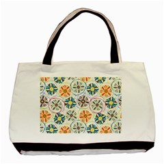 Flower Rainbow Fan Sunflower Circle Sexy Basic Tote Bag
