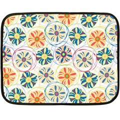 Flower Rainbow Fan Sunflower Circle Sexy Double Sided Fleece Blanket (mini)  by Mariart