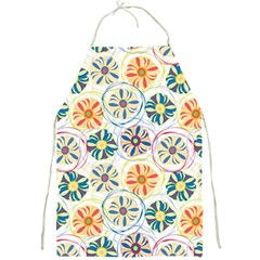 Flower Rainbow Fan Sunflower Circle Sexy Full Print Aprons