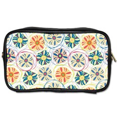 Flower Rainbow Fan Sunflower Circle Sexy Toiletries Bags 2 Side by Mariart