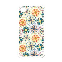 Flower Rainbow Fan Sunflower Circle Sexy Apple Iphone 4 Case (white) by Mariart