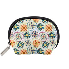 Flower Rainbow Fan Sunflower Circle Sexy Accessory Pouches (small)  by Mariart