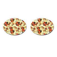 Flower Seed Rainbow Rose Cufflinks (oval) by Mariart