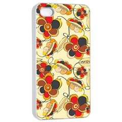 Flower Seed Rainbow Rose Apple Iphone 4/4s Seamless Case (white) by Mariart