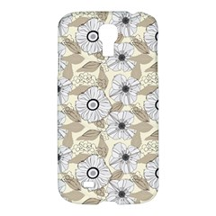 Flower Rose Sunflower Gray Star Samsung Galaxy S4 I9500/i9505 Hardshell Case by Mariart