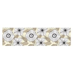 Flower Rose Sunflower Gray Star Satin Scarf (oblong) by Mariart