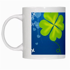 Flower Shamrock Green Blue Sexy White Mugs by Mariart