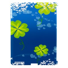 Flower Shamrock Green Blue Sexy Apple Ipad 3/4 Hardshell Case (compatible With Smart Cover) by Mariart