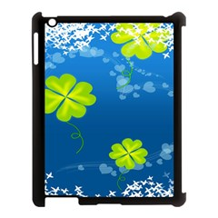 Flower Shamrock Green Blue Sexy Apple Ipad 3/4 Case (black) by Mariart