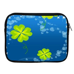 Flower Shamrock Green Blue Sexy Apple Ipad 2/3/4 Zipper Cases by Mariart