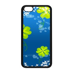 Flower Shamrock Green Blue Sexy Apple Iphone 5c Seamless Case (black) by Mariart
