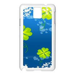 Flower Shamrock Green Blue Sexy Samsung Galaxy Note 3 N9005 Case (white) by Mariart