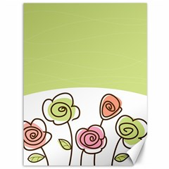 Flower Simple Green Rose Sunflower Sexy Canvas 36  X 48   by Mariart
