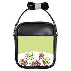Flower Simple Green Rose Sunflower Sexy Girls Sling Bags
