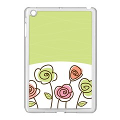 Flower Simple Green Rose Sunflower Sexy Apple Ipad Mini Case (white)