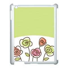 Flower Simple Green Rose Sunflower Sexy Apple Ipad 3/4 Case (white) by Mariart