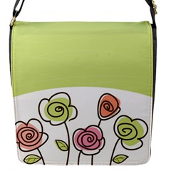 Flower Simple Green Rose Sunflower Sexy Flap Messenger Bag (s) by Mariart
