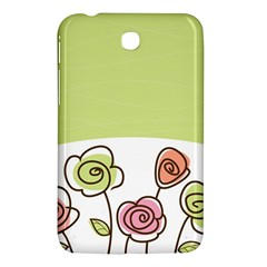 Flower Simple Green Rose Sunflower Sexy Samsung Galaxy Tab 3 (7 ) P3200 Hardshell Case  by Mariart
