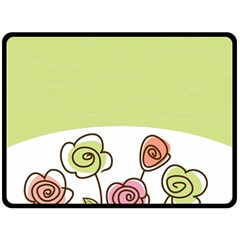 Flower Simple Green Rose Sunflower Sexy Double Sided Fleece Blanket (large)  by Mariart