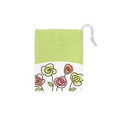 Flower Simple Green Rose Sunflower Sexy Drawstring Pouches (xs)  by Mariart