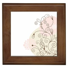Flower Simple Pink Framed Tiles