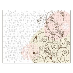 Flower Simple Pink Rectangular Jigsaw Puzzl by Mariart
