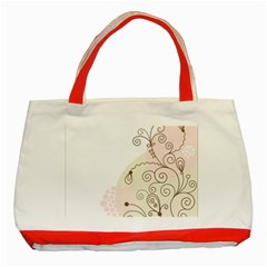 Flower Simple Pink Classic Tote Bag (red) by Mariart