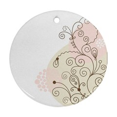 Flower Simple Pink Round Ornament (two Sides) by Mariart