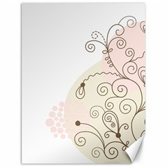 Flower Simple Pink Canvas 12  X 16   by Mariart