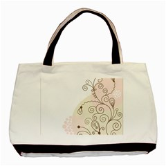 Flower Simple Pink Basic Tote Bag (two Sides) by Mariart