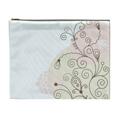 Flower Simple Pink Cosmetic Bag (xl)