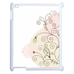 Flower Simple Pink Apple Ipad 2 Case (white) by Mariart