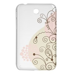 Flower Simple Pink Samsung Galaxy Tab 3 (7 ) P3200 Hardshell Case  by Mariart