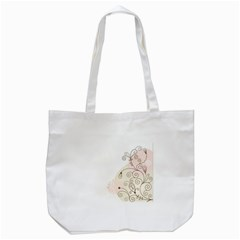 Flower Simple Pink Tote Bag (white)