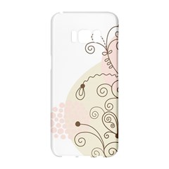 Flower Simple Pink Samsung Galaxy S8 Hardshell Case  by Mariart