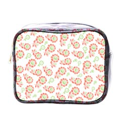Flower Rose Red Green Sunflower Star Mini Toiletries Bags by Mariart