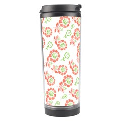 Flower Rose Red Green Sunflower Star Travel Tumbler by Mariart