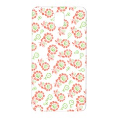 Flower Rose Red Green Sunflower Star Samsung Galaxy Note 3 N9005 Hardshell Back Case by Mariart
