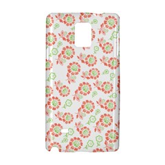 Flower Rose Red Green Sunflower Star Samsung Galaxy Note 4 Hardshell Case by Mariart
