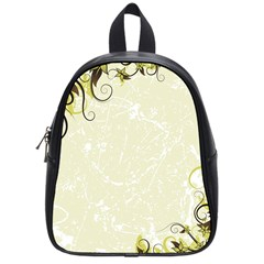 Flower Star Floral Green Camuflage Leaf Frame School Bag (small) by Mariart