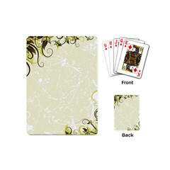 Flower Star Floral Green Camuflage Leaf Frame Playing Cards (mini)  by Mariart