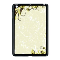 Flower Star Floral Green Camuflage Leaf Frame Apple Ipad Mini Case (black) by Mariart