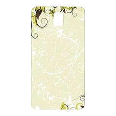 Flower Star Floral Green Camuflage Leaf Frame Samsung Galaxy Note 3 N9005 Hardshell Back Case by Mariart